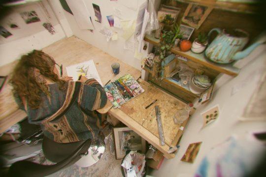 portrait-of-artist-in-studio